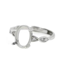 $enCountryForm.capitalKeyWord NZ - 925 Sterling Silver Engagement Wedding Anniversary Women Ring 6x8mm Oval Cabochon Semi Mount Ring Setting DIY Stone