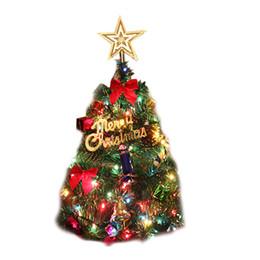50 cm christmas tree artificial flocking snow christmas tree led multicolor lights holiday decoration arbol de navidad1o9