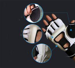 Taekwondo proTecTors online shopping - Half Fingers Kids Taekwondo Gloves Adults Sandbag Training Boxing Glove Sanda Muay Thai Protector Sturdy Design Protection Tools zz ZZ