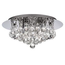 Round fluoRescent lights online shopping - New Modern round Crystal Ceiling Light Fixtures K9 Crystal rain dorp for living room Bedroom Lighting Fixtures Dia40 H25cm