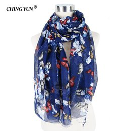 Girls Cotton Scarves Australia - Brand Women's Scarf Cotton Soft Spring Summer Light Ladies Scarves Butterfly printing Girl Bandana Hijab Face Woman Headscarves