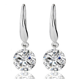 Sterling Silver Earrings for Women Gemstone Big Long Dangle Geometric Drop Earrings  Swarovski Cubic Zirconia Statement Crystal Earrings da0bc4fedb