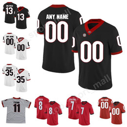 d40297286 College Football 35 Brian Herrien Jersey Georgia Bulldogs 13 Elijah  Holyfield AJ Green Greyson Lambert Matthew Stafford Make Custom Man Kids