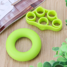 power rings 2019 - 2Pcs set Silicone Hand Grip Muscle Power Training Grip Ring Finger Strength Exercise Crossfit Home Gym Fitness Equipemen