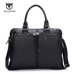 Laptop Bag Shoulder Straps NZ - Casual Leather Men Handbag Shoulder Bags Business Men's Travel Bag Tote Shoulder Strap Bag Men 13 inches Laptop Bags Bolsos