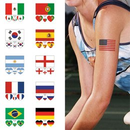 040845c5d Flag Waterproofing Australia - 2018 World Cup Top 32 Countries Flag  Temporary Tattoo Sticker Face Body