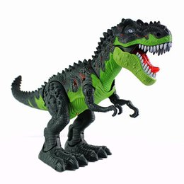 toy dinosaurs walk 2019 - Citygirl Dinosaur Electric Tyrannosaurus Walk Battery Operated Toy Sound Figure Realistic cheap toy dinosaurs walk