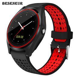 $enCountryForm.capitalKeyWord Australia - Beseneur V9 Smart Watch Men Women Android 2018 Smartwatch with Camera Alarm Clock Support Sim Card Bluetooth Wristwatch PK dz09