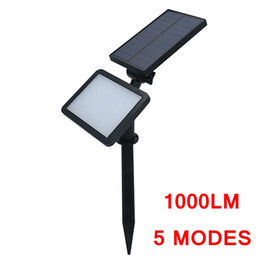 garden spot led 2020 - Edison2011 Adjustable 48 LED Solar Lawn Lights 5 modes Super Bright Wall Lamp Spotlight Garden Street Lamp Landscape Spo