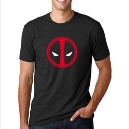 simple cosplay NZ - Deadpool Logo Simple T-Shirt X Men Costume Cosplay Mens Boys Top Gift T Shirt