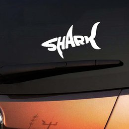 pink shark NZ - Wholesale Shark fish Animal Jdm Vinyl Decals Car Stickers Glass Stickers Scratches Stickers Bumper Accessories