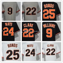 870872f0 ... official 2018 mens sf giants 24 willie mays 25 barry bonds 22 will clark  9 williams ...