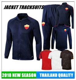 Tracksuits Jacket Canada - 2018 JACKET Football tracksuit TOTTI DE ROSSI Calcio Maglia Italia Serie A COLE CASTAN LJAJIC PJANIC jerseys soccer calcio shirts best