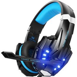 Venta al por mayor de Auriculares estéreo para juegos para PS4, PC, controlador de Xbox One, auriculares con cancelación de ruido para el oído para computadoras portátiles Mac Nintendo Switch Games