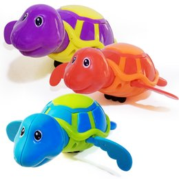 turtle novelty toys Australia - Little Turtle Bath Toys Novelty Cute Wind Up Water Diver Plastic Exercise Grip Ability Pool Toy For Kids