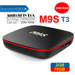 $enCountryForm.capitalKeyWord Australia - 2019 Cheapest M9S T3 Android smart Tv Box Quad Core 2GB 16GB H3 Chip Support Wifi 4K 3D Media Player set top Box Better TX3 X96 MINI T95Q