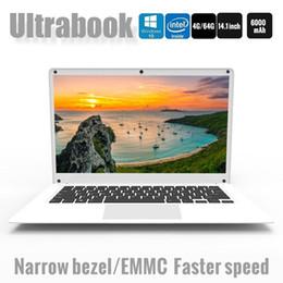 Discount dual camera laptop - 14.1 Inch Exquisite Laptop Windows 10 Quad-core Intel Cherry Trail Z8350 4GB 64GB Ultrabook Dual Camera notebook