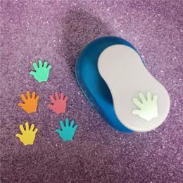 """foam craft punches 2019 - Hand shaped 5 8""""(1.5cm) foam hole punch greeting card handmade palm craft puncher cortador de papel de scrapbooking"""