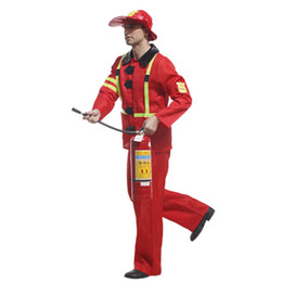 $enCountryForm.capitalKeyWord UK - Adult Fireman Costume Halloween Cosplay Role Play Party Firefighter Performance Stage Suit Mens Fancy Costume