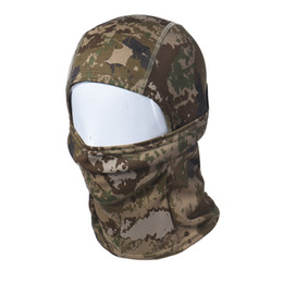 Army mAsks online shopping - Top Grand Camouflage Army Balaclava Cap Hunting Halloween Hats Full Face Mask For Motorcycle Skiing Cycling Dropship