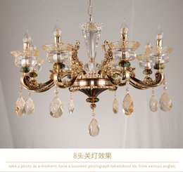 European Style Crystal Chandelier Living Room Chandeliers Luxury Atmosphere Hotel Restaurant Bedroom Lamp Modern Lamps