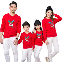 11059bbbe Family Matching Outfits 2017 Christmas Deer Kid shirts Family clothes  Mother Daughter Father Son Baby Rompers Family Clothing
