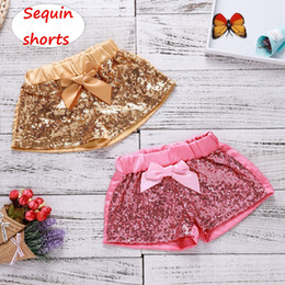 baby sequin bow NZ - Baby girl sequin shorts with bow Infant summer short pant Newborn Girls sweet shorts 2colors & 4size