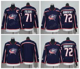 a12fe1f3 2018 AD 72 Sergei Bobrovsky Jersey Columbus Blue Jackets Men Woman Youth 71  Nick Foligno Women Ice Hockey Jerseys Kids Man Stitched