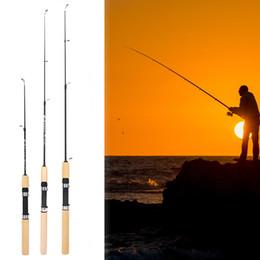 Vente en gros 75cm Longueur Crevettes portables Pôle de pêche à la glace portable Poids léger Pêche Pêche Toiles de pêche Outils de pêche Pesca