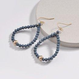 Copper Earrings Australia - ZWPON 2018 New Copper Line Faux Stone Beads Drop Earrings Women Bohemian Fashion Statement Earrings Jewelry Wholesale