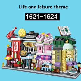diamond blocks mini loz 2019 - Toys for Children LOZ Small Particles Diamond Building Blocks Spelling Toys Mini Street Scene 1621-1624 1629-1632 cheap
