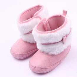 a57ca94f5d00 Baby Walking Boots NZ - New Good bowknot knitting cotton shoes boots  slippers baby boy girl
