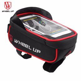 bicycle phone holders waterproof 2019 - Wheel up Bicycle Pannier Bags Waterproof Handlebar Bag MTB Road Bike Holder Bag MTB Phone Case For Phone GPS Of Cycling