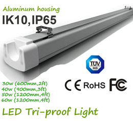 industrial fluorescent light NZ - High quality fixture 0.6m IP65 30w 120LM W led tri-proof ligh led linear lamp Industrial High Bay LED Tri-proof Hanging Lighting Safety