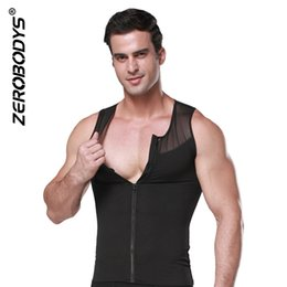 Man shapers online shopping - ZEROBODYS Mens Slimming Body Shaper Shirt With Zipper Abs Abdomen Slim Mesh Breathable Men s Body Shapers