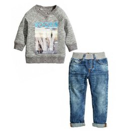 Wholesale Best Deal Baby Kids Boys Autumn Cotton Coat Shirt Sweater Jeans Denim Pants Outfits Kids Boys Winter Clothes Set