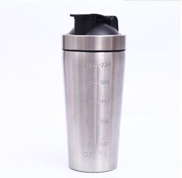 Powder Drinks Canada - 25oz Stainless Steel Rocking Cups Fitness And Sports Cup 304 Stainless Steel Protein Powder Shake Cups Milkshake Cups