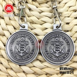 glasses trade Australia - Metal antique ancient tin key chain foreign trade relief key chain low price zinc alloy key listing