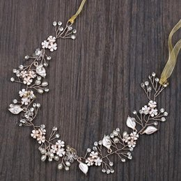 Coral Hair Accessories Australia - Bride Accessories Pink Flower Hair Accessories Pearl Crystal Bridal Hair Ornaments In Europe and The United States Selling