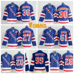 Women Hockey Jerseys New York Rangers Woman 27 Ryan McDonagh 30 Henrik  Lundqvist 36 Mats Zuccarello 61 Rick Nash 99 Wayne Gretzky ef801de37