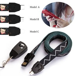 Wholesale Neck Lanyard Hand Wrist Strap USB Detachable Micro usb Type C Cable cm cm A fast charging cord sync usb fast charge cord for s8 s9