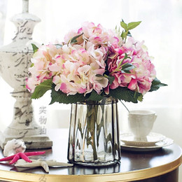 $enCountryForm.capitalKeyWord Australia - Artificial Flowers Silk Fake Realistic Hydrangea Flowers Bouquet Simulation Flower Arrangements for Home Wedding Party Table Decorations