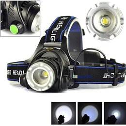 1800LM XM-L T6 LED Zoomable Headlight Head Torch Lampada 2 X 18650 + caricabatterie AC / auto on Sale