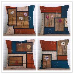 99f6800bdd7c Fashion retro Plaid sofa home bedding linen cotton linen Custom Pillowcase  Decorative Throw Pillows cushion covers pillow cover
