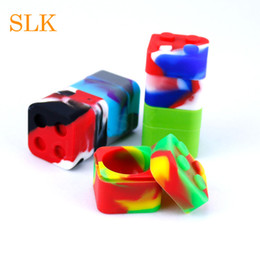 $enCountryForm.capitalKeyWord NZ - Cube 10+1ml silicone wax dab containers mix red yellow green dab tool storage jar dab slick oil dry herb concentrate container box square