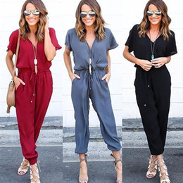 Women Jumpsuit Romper Playsuit Australia - Feitong Women Chiffon Short Sleeve Clubwear Playsuit Bodycon Party Jumpsuit Romper Bodycon macacao jumpsuit Female Overalls 2018