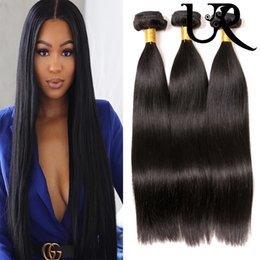 filipino virgin human hair NZ - Peruvian Straight Human Hair Extensions 3 4 Bundles Malaysian Brazilian Filipino Virgin Remy Hair Weave Silky Straight Dyeable 8inch-28inch