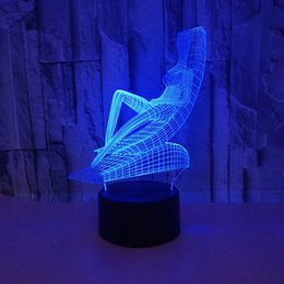 $enCountryForm.capitalKeyWord NZ - Sunbathing 3d Light Night Lamp 3d Led Acrylic Visual Lamp Remote Touch switch Lovely 7 color change 3D Lamp Wholesale Dropshipping