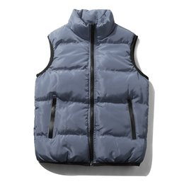 $enCountryForm.capitalKeyWord Canada - Fashion Men vest Casual thick Winter Autumn padding coats menswear Padding with stand collar and elastic cuff