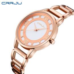 dee5313ef1b12 CRRJU New Fashion Sier Women Watch Rose Gold Steel Quartz Bracelet Watches  Ladies Waterproof Luxury Wristwatch Relojes 2016